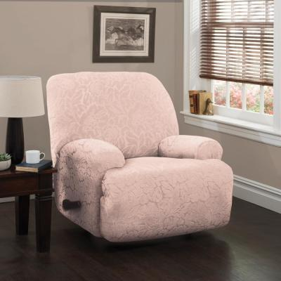 Stretch Floral Jumbo Recliner Slipcover