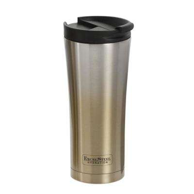 16 oz. Gold to Silver Gradient Double Walled Coffee Tumbler