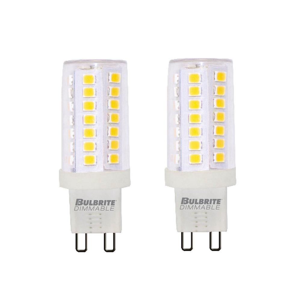 60-Watt Equivalent T6 Dimmable Bi-Pin (G9) LED Light Bulb Soft White Light (2-Pack)