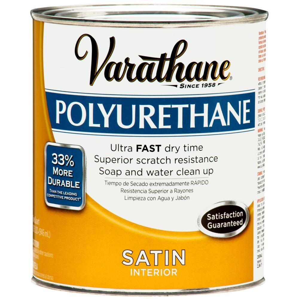 Varathane 1 qt. Amber Satin Interior Polyurethane (2-Pack)