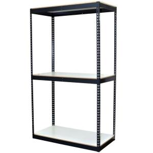 Storage Concepts 72 inch H x 48 inch W x 24 inch D 3-Shelf Bulk Storage Steel Boltless Shelving Unit w/Double... by Storage Concepts