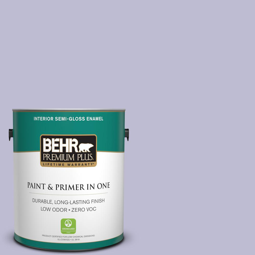 1 gal. #640C-3 Twilight Pearl Semi-Gloss Enamel Zero VOC Interior Paint