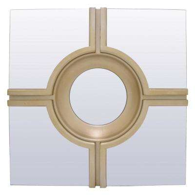 24 in. Wall Mirror in Champagne