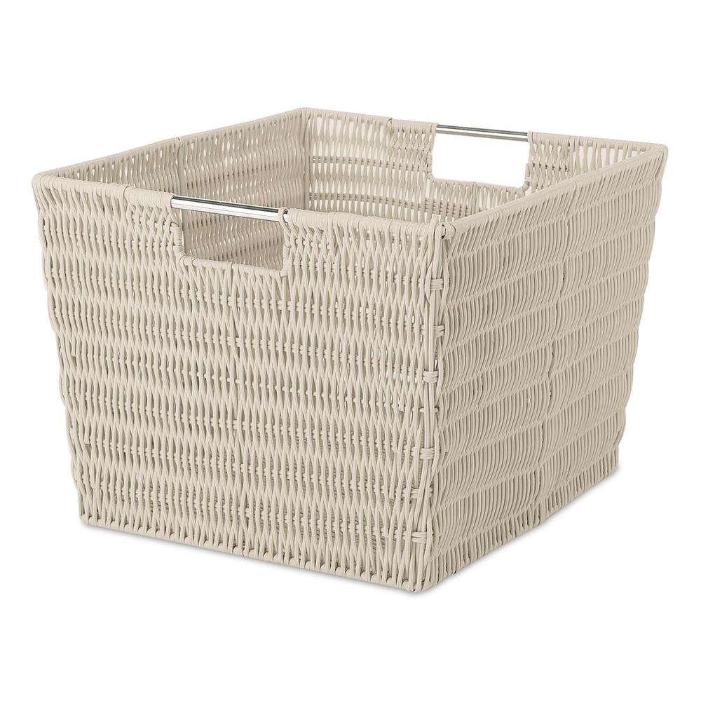 Storage Tote Collection 15 In. X 9.8 In. Rattique Storage Tote