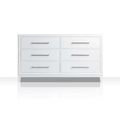 Ellie 59 in. W x 21 in. D Vanity Cabinet Only in White