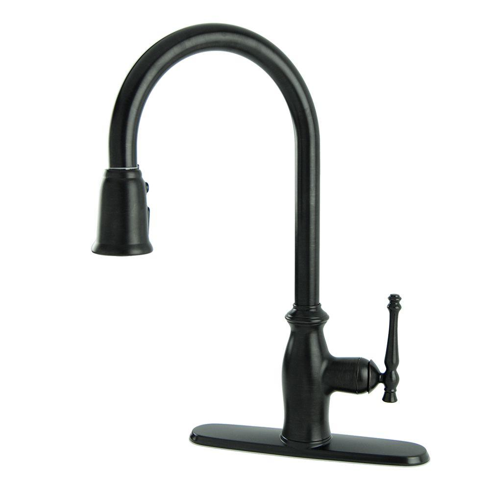 Giordana Single-Handle Pull-Down Sprayer Kitchen Faucet in Oil Rubbed Bronze