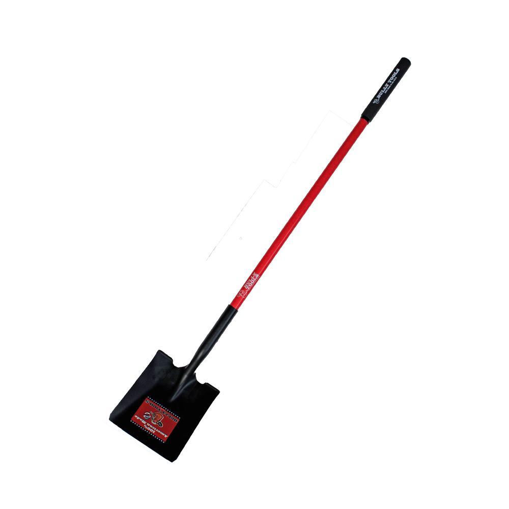 14-Gauge Square Point Shovel with Fiberglass Long Handle