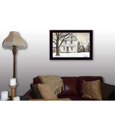"20 in. x 26 in. ""Winter Porch"" by Billy Jacobs Printed Framed Wall Art"