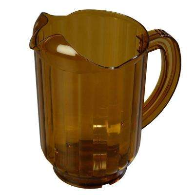 60 oz., 8.25 in. Tall Polycarbonate Pitcher in Amber (Case of 6)