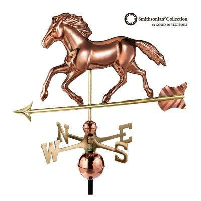 Smithsonian Running Horse Weathervane - Pure Copper