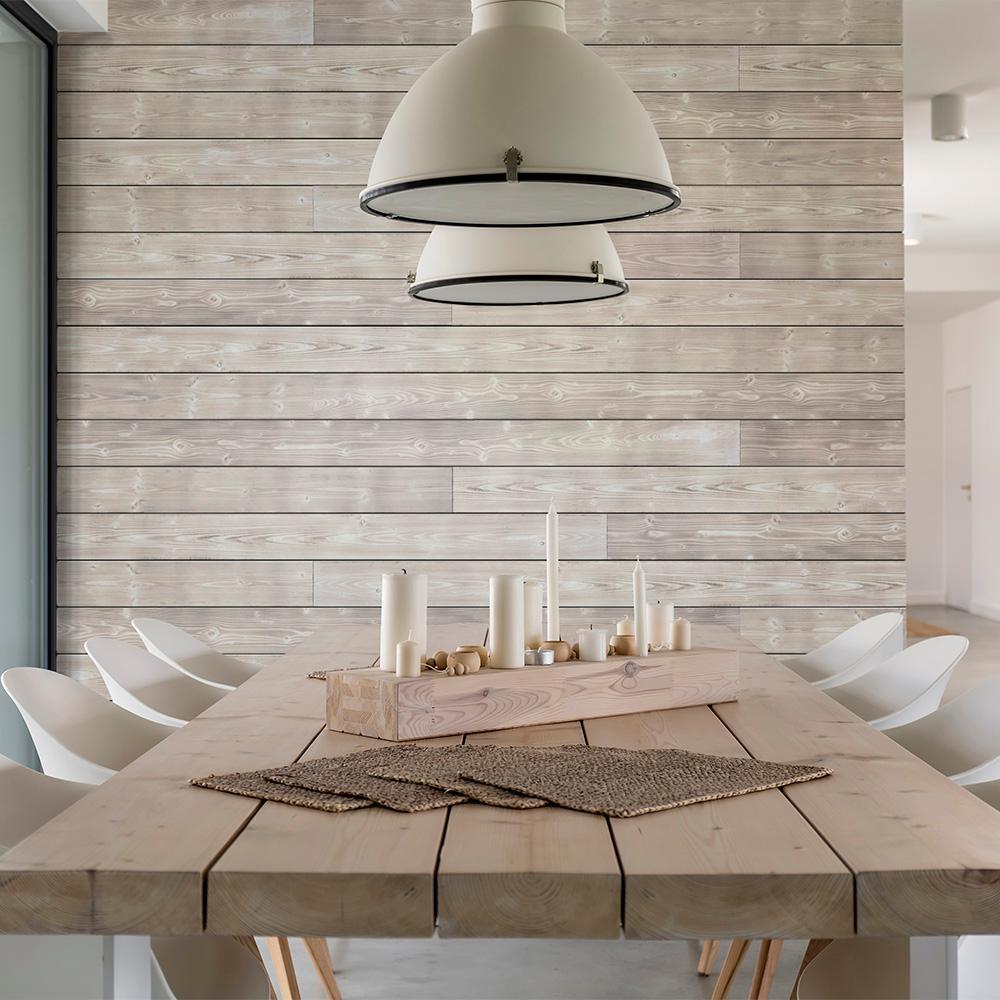 1 in. x 6 in. x 8 ft. Smoke White Charred Wood Pine Shiplap Board (4-Pack)