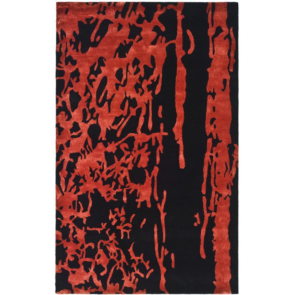 Soho Black/Red 6 ft. x 9 ft. Area Rug