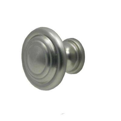 1-1/8 in. Satin Nickel Cabinet Knob