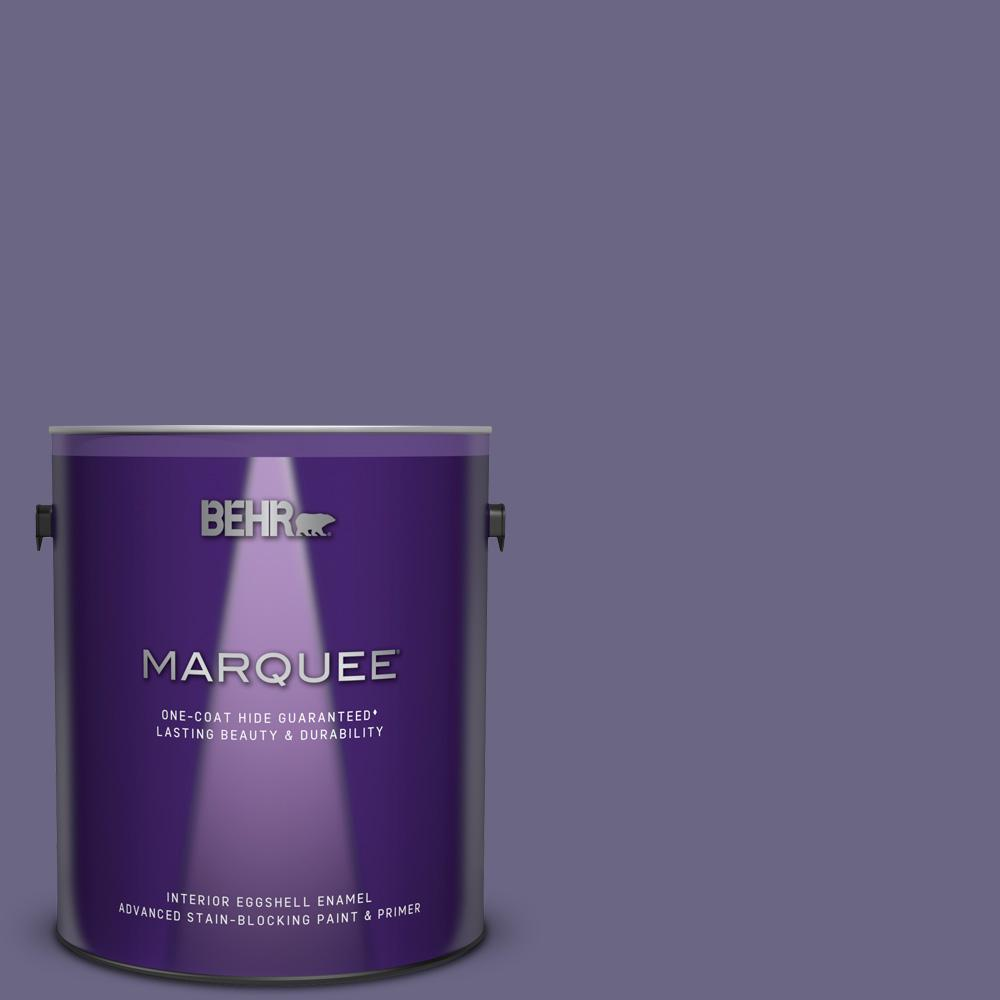 Behr Marquee 1 Gal Ppu16 18 Hyacinth Arbor One Coat Hide Eggshell Enamel Interior Paint And Primer In One 245301 The Home Depot