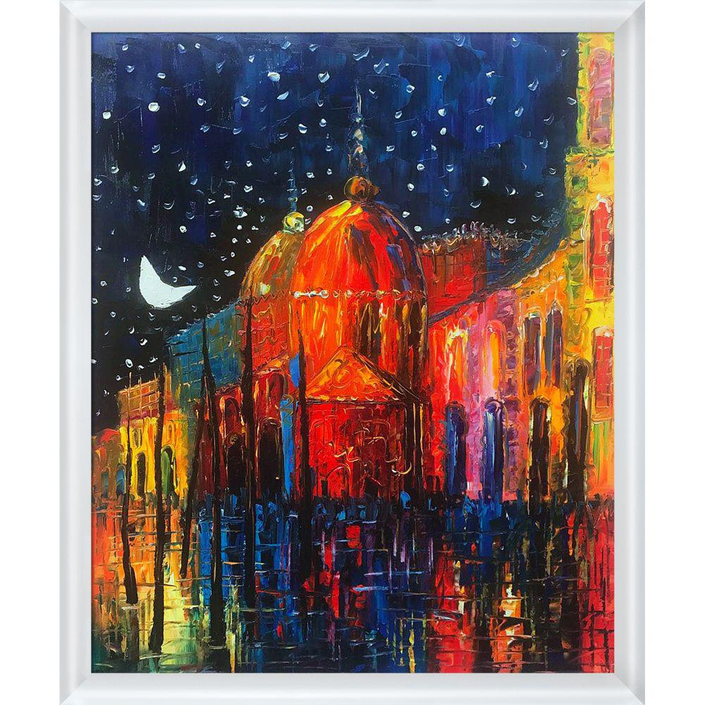 ArtistBe Night Reproduction with Moderne Blanc Frameby Justyna Kopania Canvas Print, Multi-color was $755.5 now $364.31 (52.0% off)