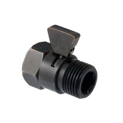 Water-Saver Volume Flow Control and Shut Off Valve for Shower Heads and Hand Showers in Rubbed Bronze