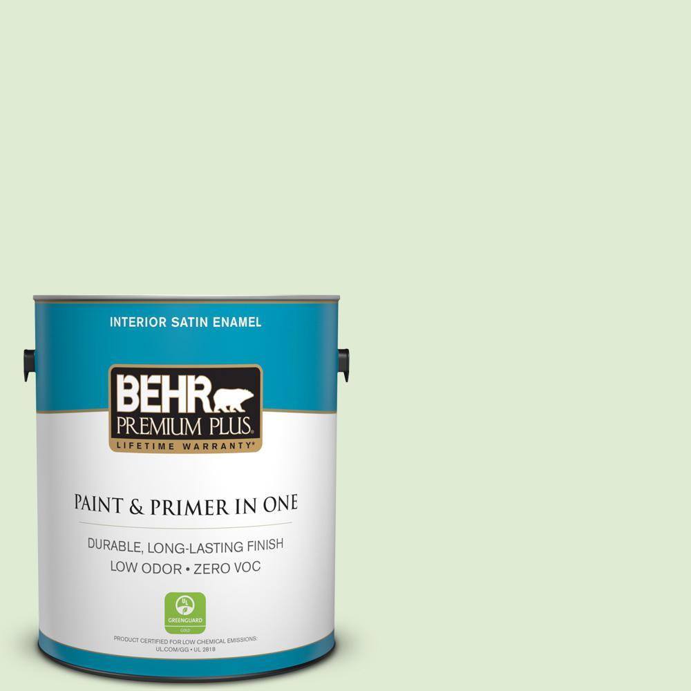 1-gal. #P380-2 Misted Fern Satin Enamel Interior Paint