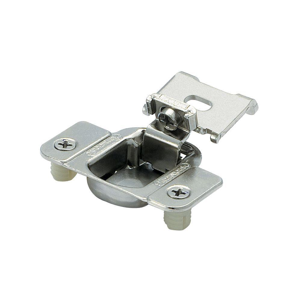 1 2in 13 Mm Overlay Matrix Concealed Nickel Hinge 2 Pack