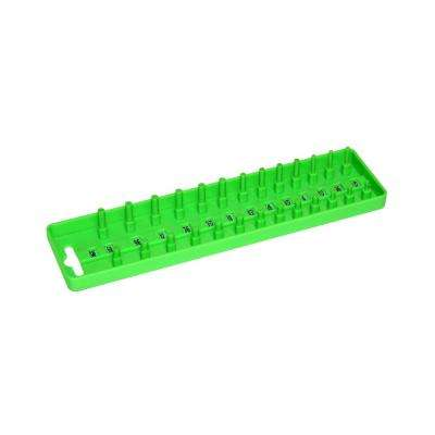 Grip 1/4 in. No Compartments Socket Tray, Green