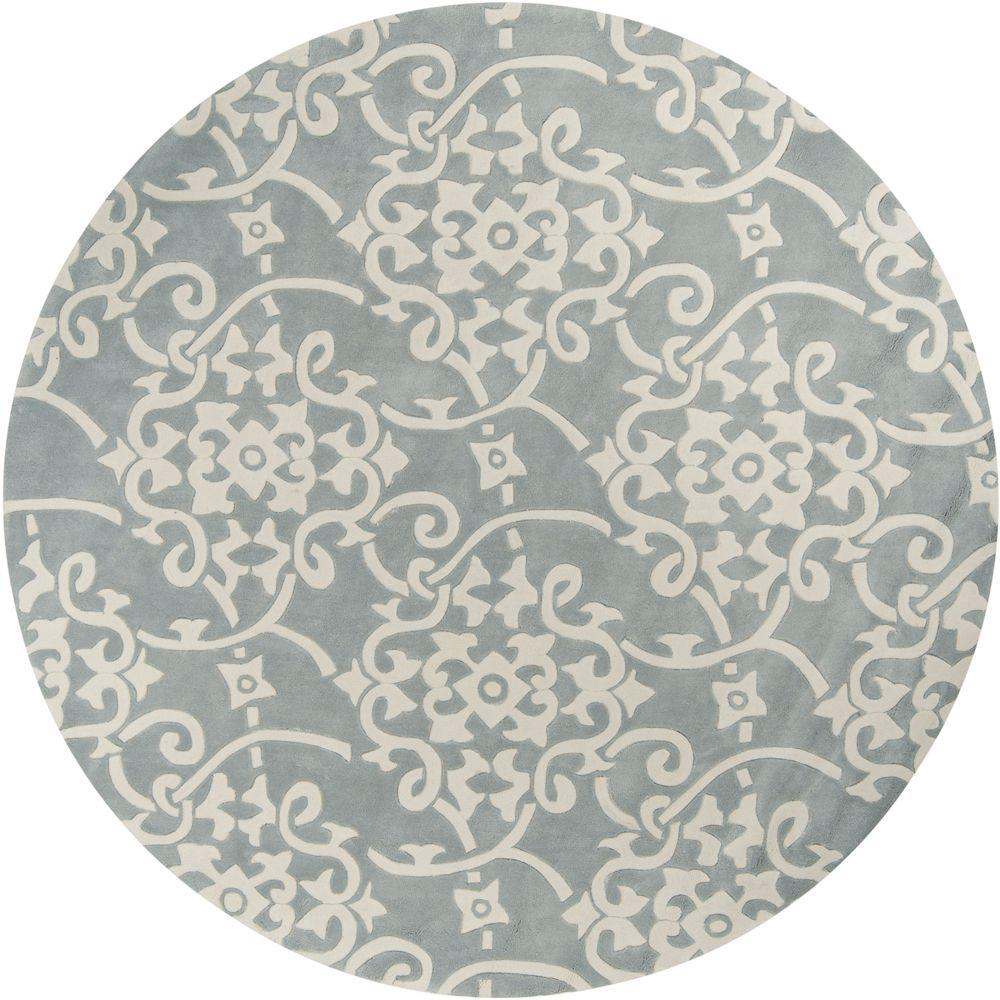 Perfect Artistic Weavers Meredith Silver Gray 8 Ft. X 8 Ft. Round Area Rug