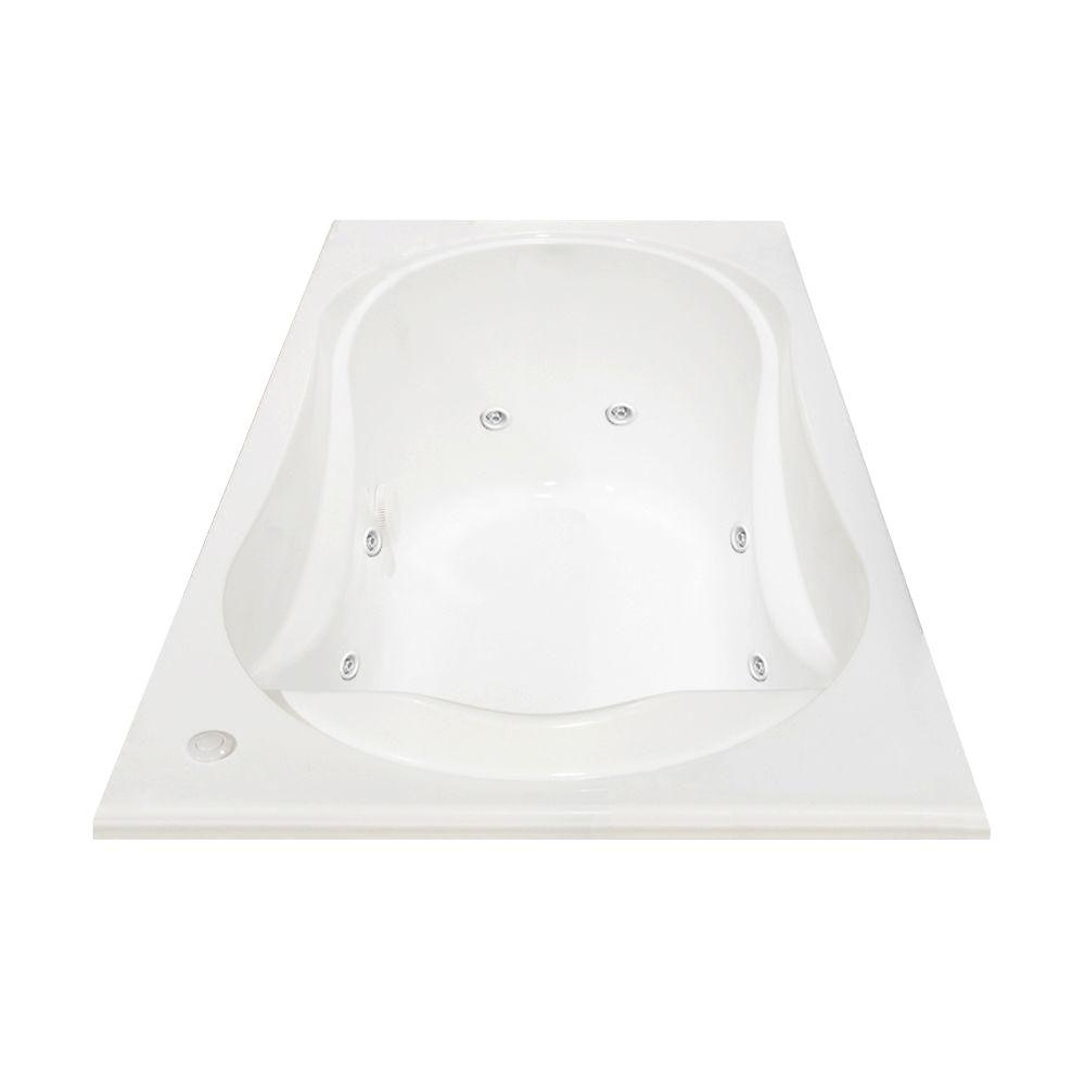 MAAX Cocoon 5.5 ft. Acrylic End Drain Rectangular Drop-in Whirlpool ...