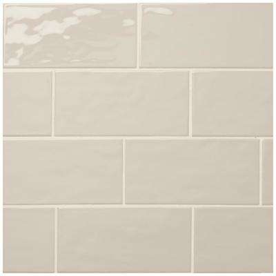 LuxeCraft Taupe 4 in. x 8 in. Glazed Ceramic Modular Wall Tile (0.25 sq. ft. / piece)
