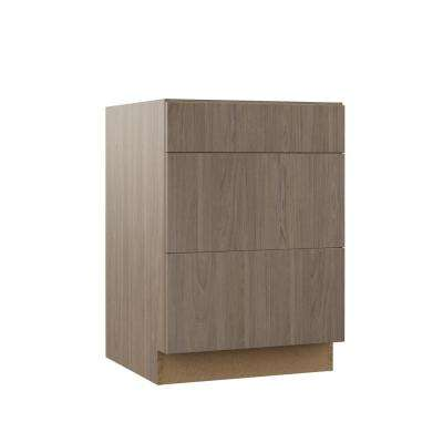 Edgeley Assembled 24x34.5x23.75 in. Drawer Base Kitchen Cabinet in Driftwood