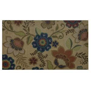 Gracie Floral 18 inch x 30 inch Door Mat by