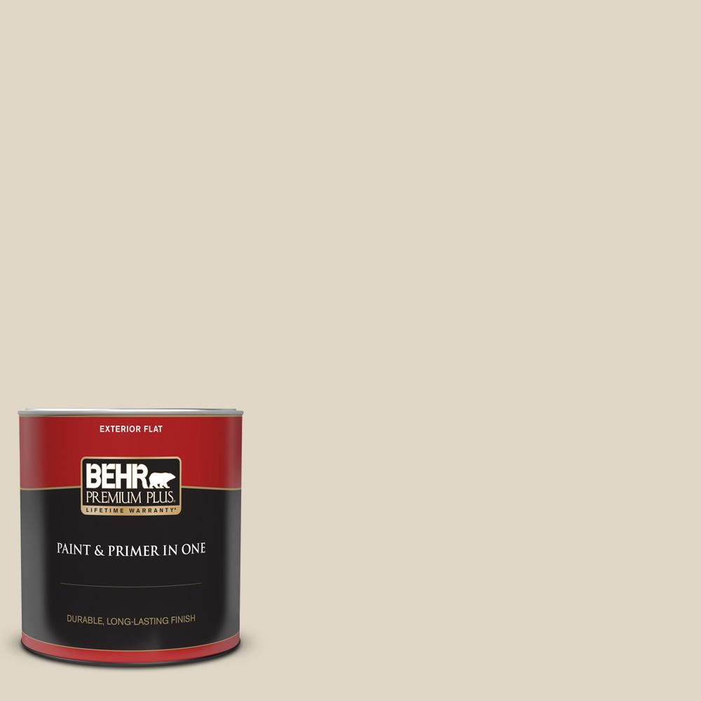 Reviews For Behr Premium Plus 1 Qt Yl W13 Sentimental Beige Flat Exterior Paint And Primer In One 405004 The Home Depot