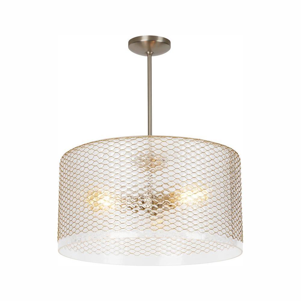 Lania 3-Light Clear-Brass LED Pendant