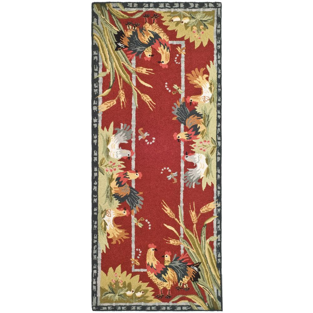 Chelsea Burgundy 2 ft. 6 in. x 6 ft. Runner