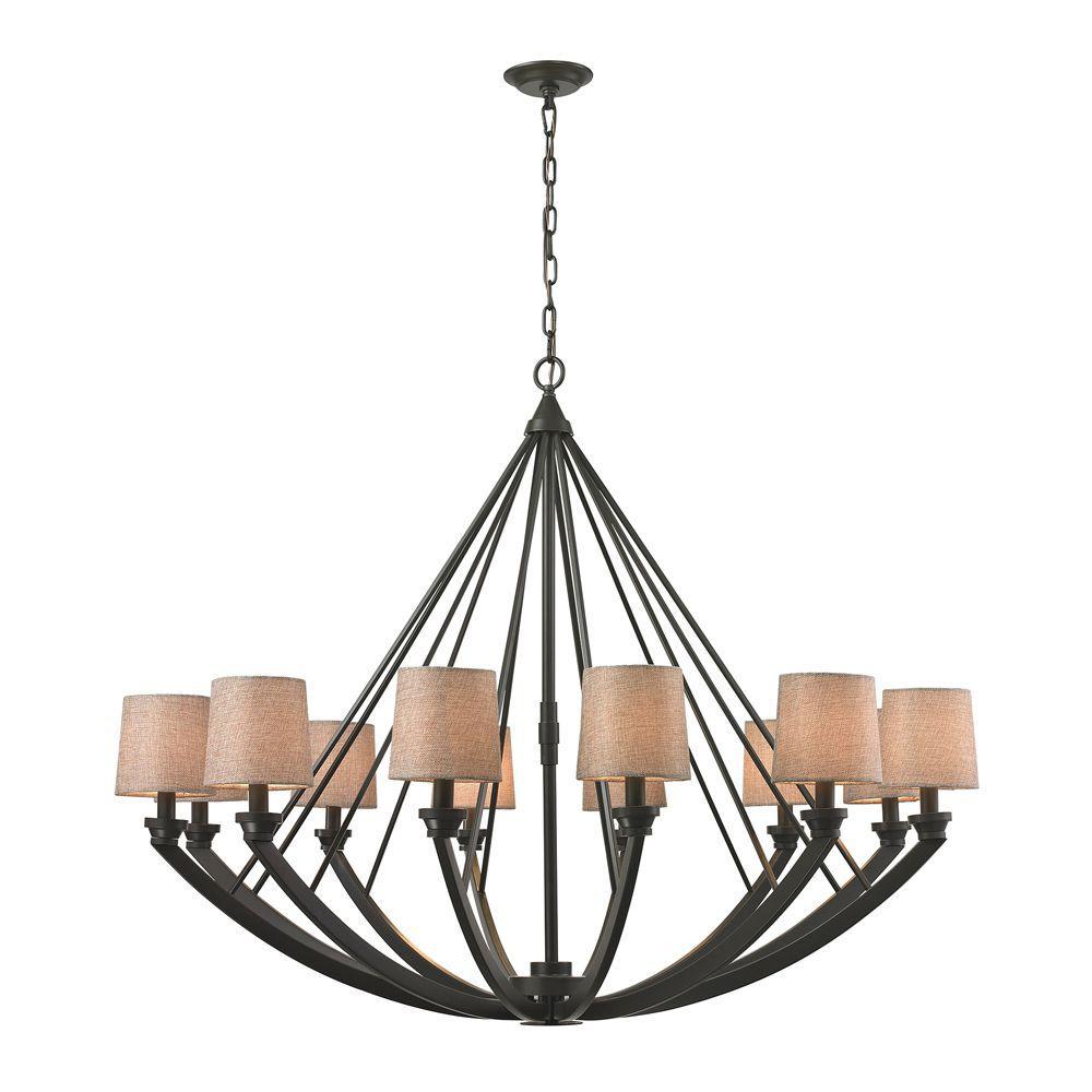 Elk Lighting Hartford: Titan Lighting Morrison 12-Light Oil-Rubbed Bronze