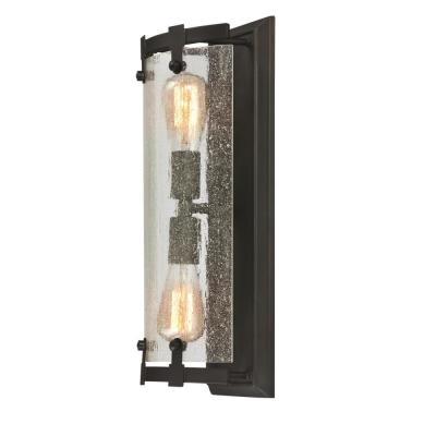 Burnell 2-Light Oil Rubbed Bronze Wall Mount Bath Light