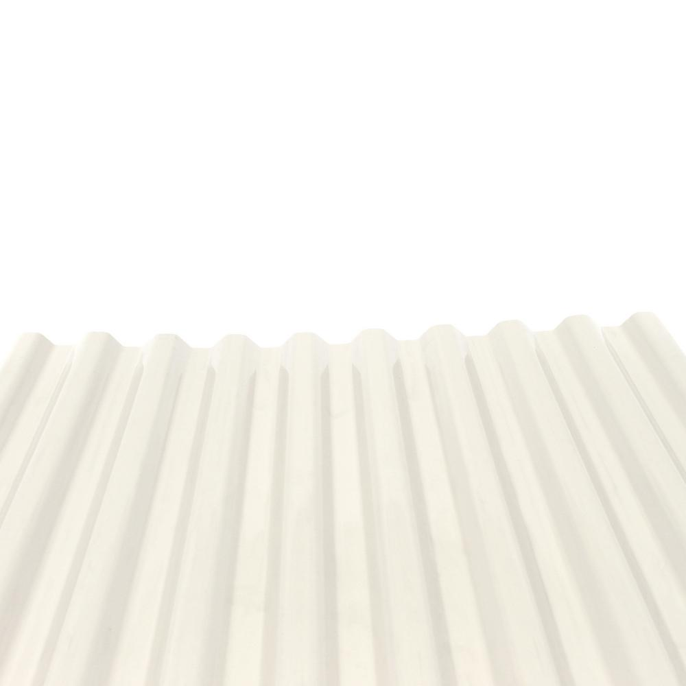 DeckDrain 10 ft. PVC Roof Panel in Opaque White (10-Pack)