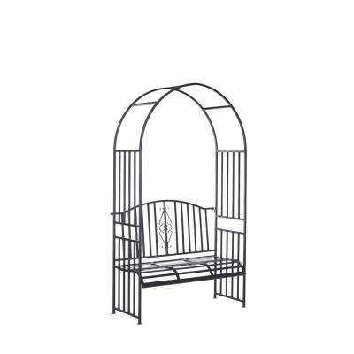 Villow 85 in. x 22.5 in. Steel Arbor with Loveseat