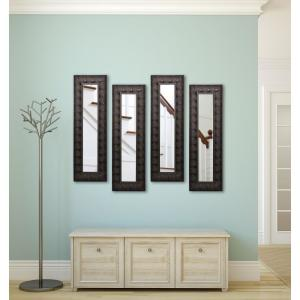 10.5 inch x 26.5 inch Feathered Accent Vanity Mirror (Set of 4-Panels) by