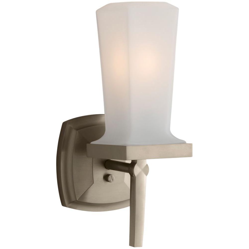 Kohler margaux vibrant brushed bronze led wall sconce k for Vibrant brushed bronze bathroom lighting