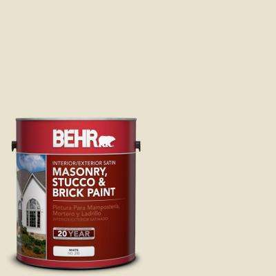 1 gal. #MS-33 Eggshell White Satin Interior/Exterior Masonry, Stucco and Brick Paint