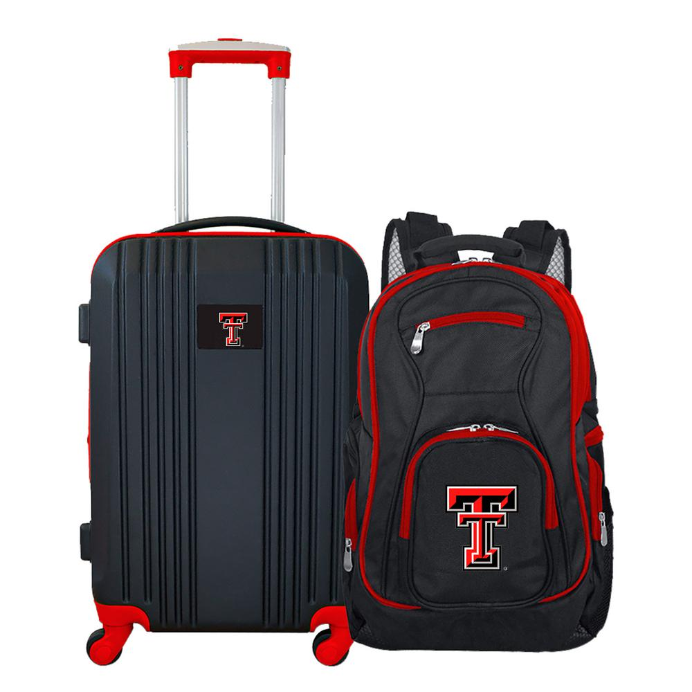 778a516c2f Mojo NCAA Texas Tech Red Raiders 2-Piece Set Luggage and Backpack-CLTTL108  - The Home Depot