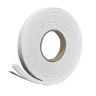 E/O 3/4 in. x 5/16 in. x 10 ft. White High-Density Rubber Foam Weatherstrip Tape