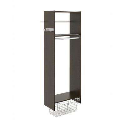 14 in. D x 25.125 in. W x 72 in. H Espresso Wood Laundry Tower Closet Kit