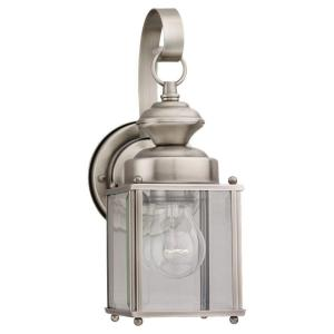 Jamestowne Collection 1 Light Outdoor Antique Brushed Nickel Lantern