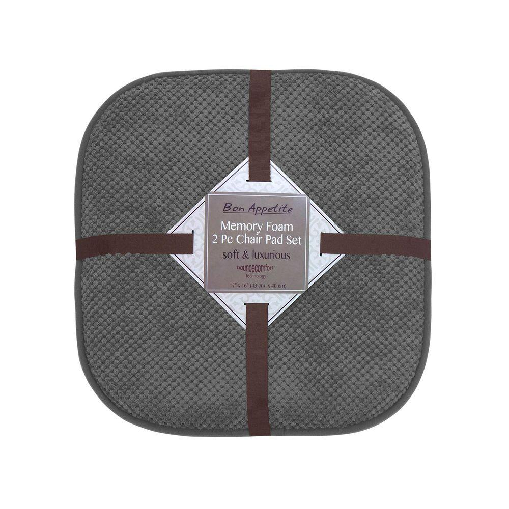 Bon Appetite 16 in. x 17 in. Dark Gray Memory Foam