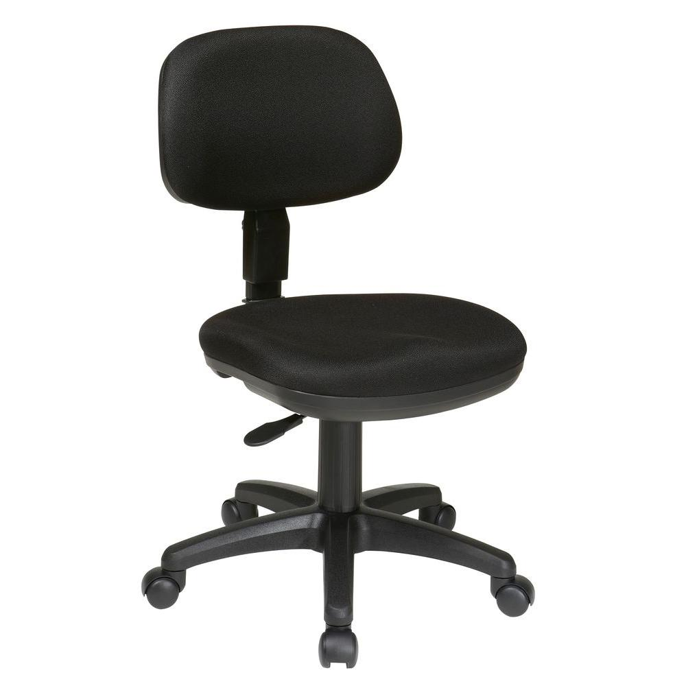 Office Star Products Black Office Chair Sc117 231 The Home Depot