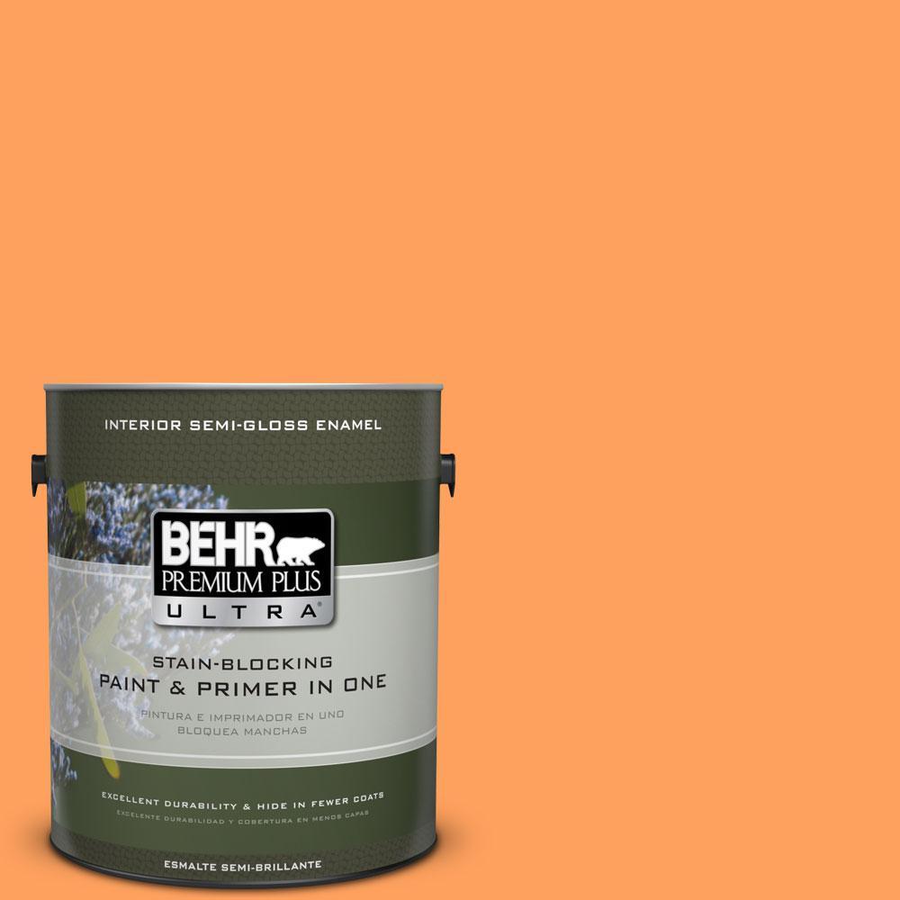 1-gal. #250B-5 Orange Spice Semi-Gloss Enamel Interior Paint