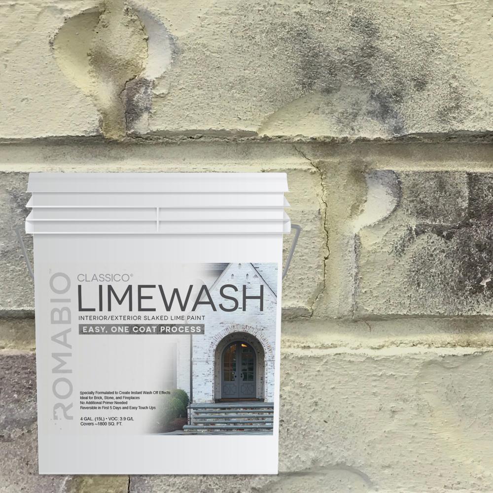 4 gal. Tropea Beige Limewash Interior/Exterior Paint
