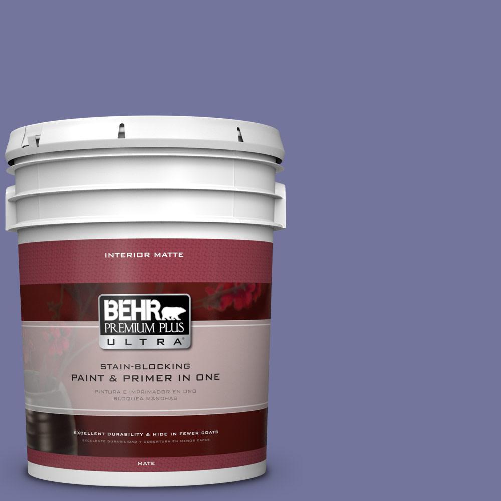 5 gal. #630D-6 Palace Purple Flat/Matte Interior Paint