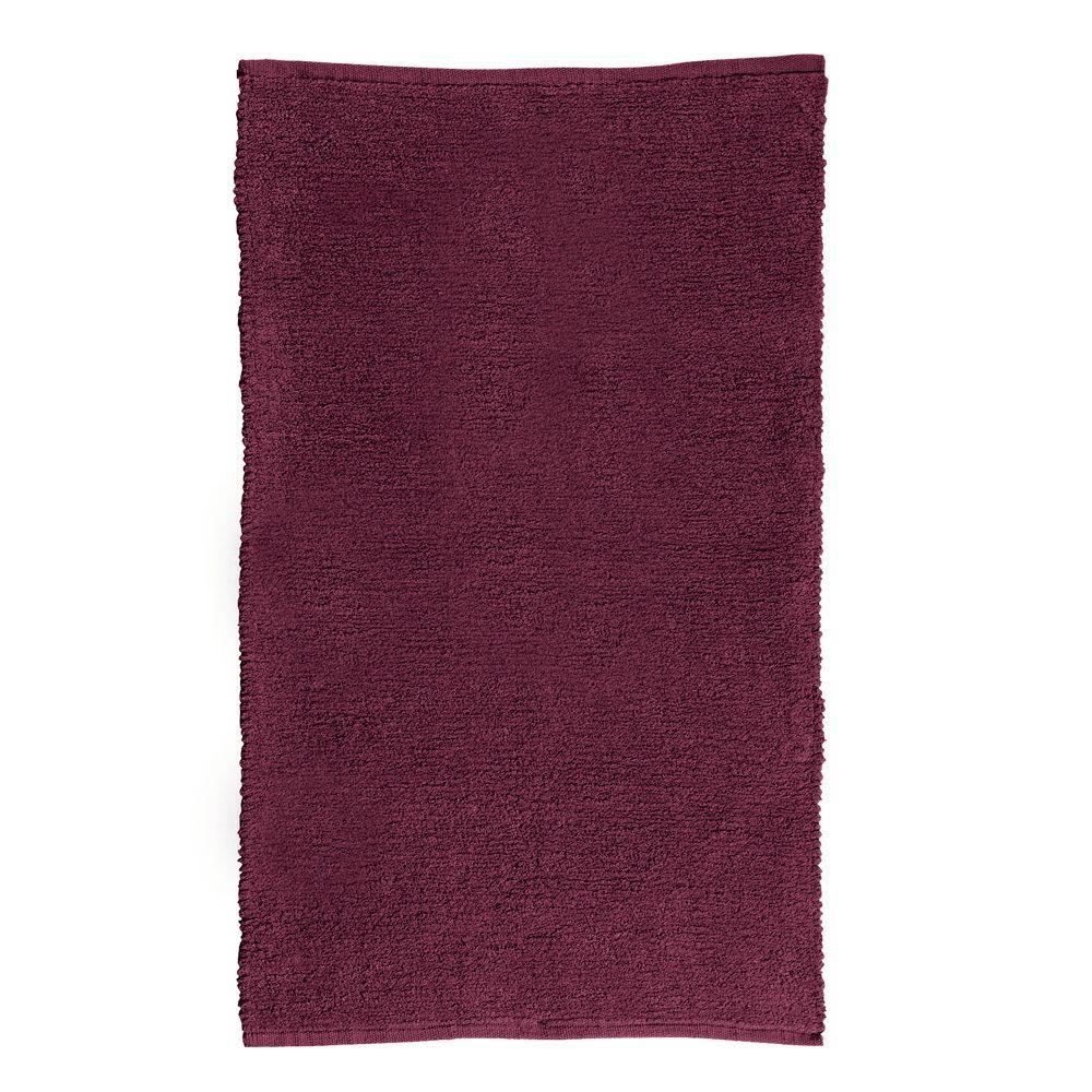 Home Decorators Collection Royale Chenille Burgundy 5 ft. x 8 ft. Area Rug