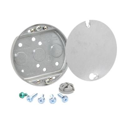 1/2 in. Deep 5.9 cu. in. Ceiling Fan Box with Metal Cover
