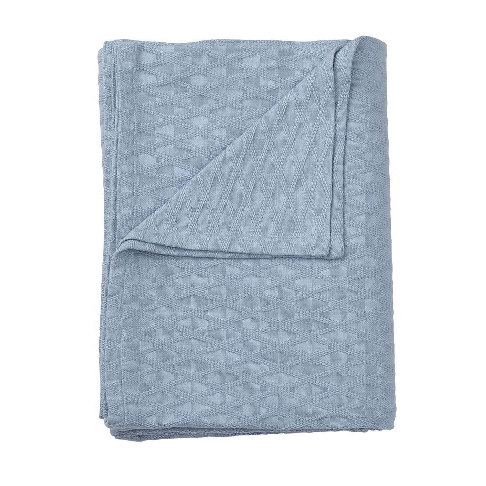 The Company Store Cotton Bamboo Misty Blue King Blanket KO67-K-MISTY-BLUE